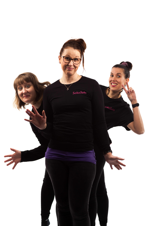 SelkoSeksin tiimi: Fanni, Henna ja Johanna